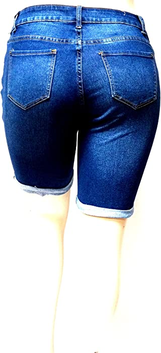 ae98869b994 ... Ship Overseas to Cambodia from the USA- Fado168.com1826  Cello Women s  Plus Size Bermuda Short Curvy Denim Jean Ripped Distressed