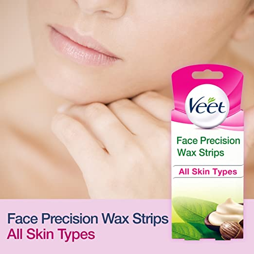 Amazon.com: Veet Face Precision Wax Strips - Pack of 20: Health & Personal Care