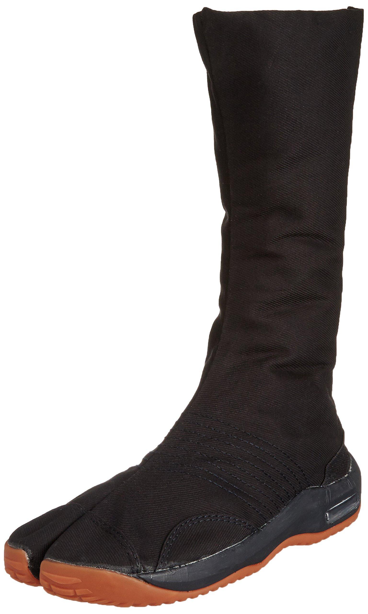 Ninja shoes, AIR JOG 12, Jika TabiSize: 26.0 cm (US size 8 ), Color: Black