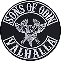 Sons of Odin Valhalla patch Vikings opstrijkbare biker patch rocker strijkplaatjes metalen sticker Viking cadeau…