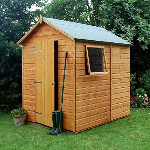 premier shed 7x5 wooden apex garden shed with opening window