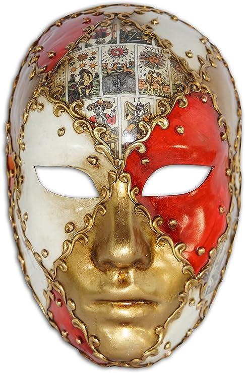 BLEVET Vintage Veneciano Masquerade Mens Mardi Gras M/áscara Carnaval MZ041 Blue