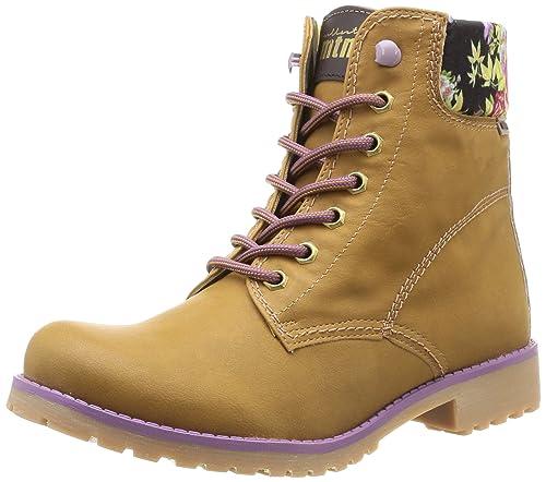 MTNG 52847 - Botines para mujer, color element mostaza / lute rosa, talla 36: Amazon.es: Zapatos y complementos