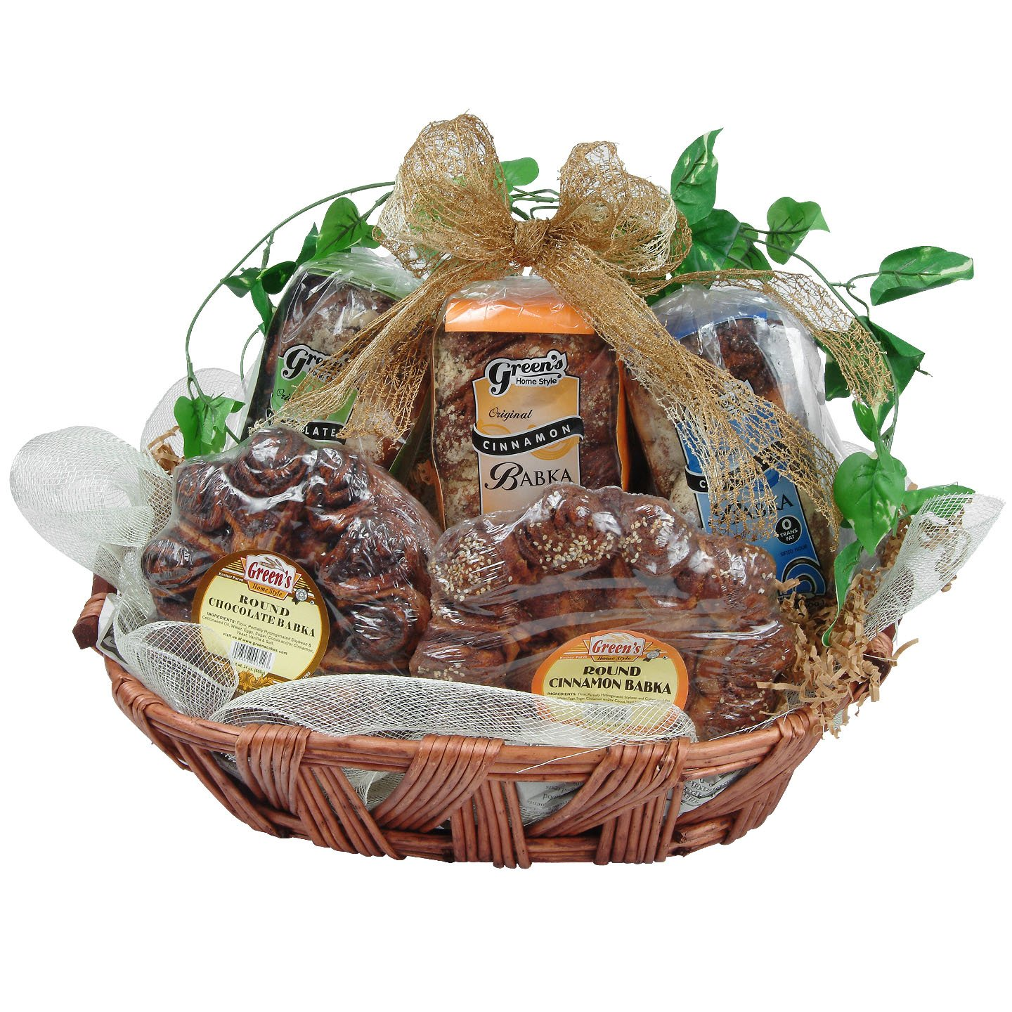 Wow Chanukah Gourmet Food Gift Basket by Greens Babka