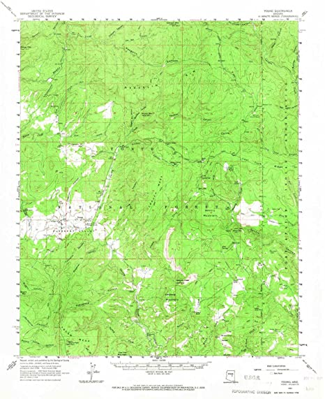Map Of Young Arizona.Amazon Com Yellowmaps Young Az Topo Map 1 62500 Scale 15 X 15