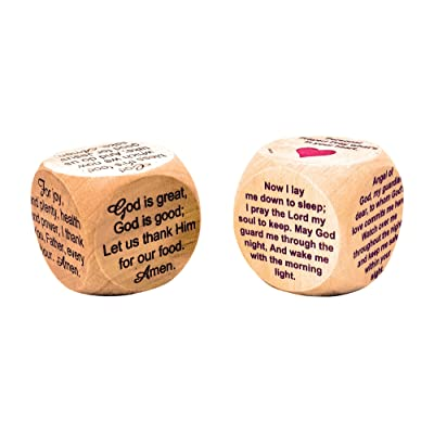 Faithworks Prayer Cubes for Mealtime and Bedtime (Set of 2): Toys & Games