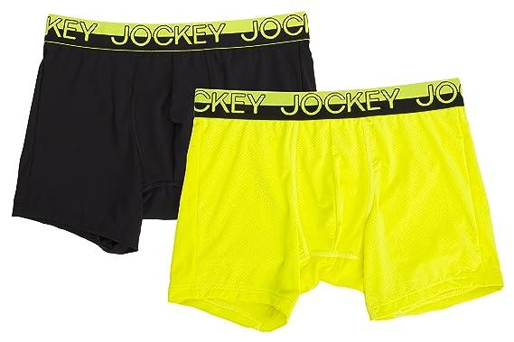 a6c191abed9f Jockey Men's Sport Mesh Boxer Briefs (Large, Neon Citrus/Black) at Amazon  Men's Clothing store: