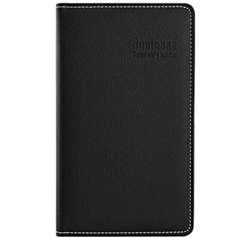 Amazon maxgear professional pu leather business card book maxgear professional pu leather business card book holder journal business card organizer name card reheart Image collections