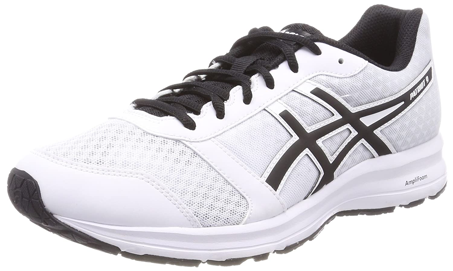 Asics Patriot 9, Zapatillas de Running para Hombre 42.5 EU|Blanco (White/Black/White 0190)