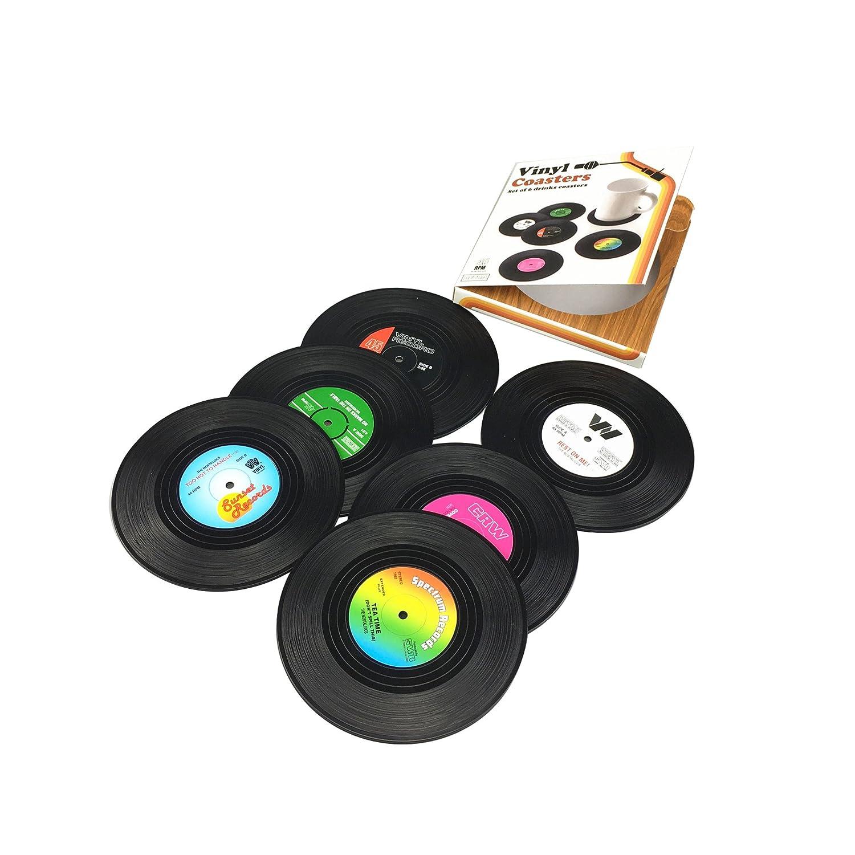 Rxbc2011/sous-verres Record Disc Dessous-de-verre pour boissons/ /Dessus de table protection Emp/êche les meubles contre les dommages A-4