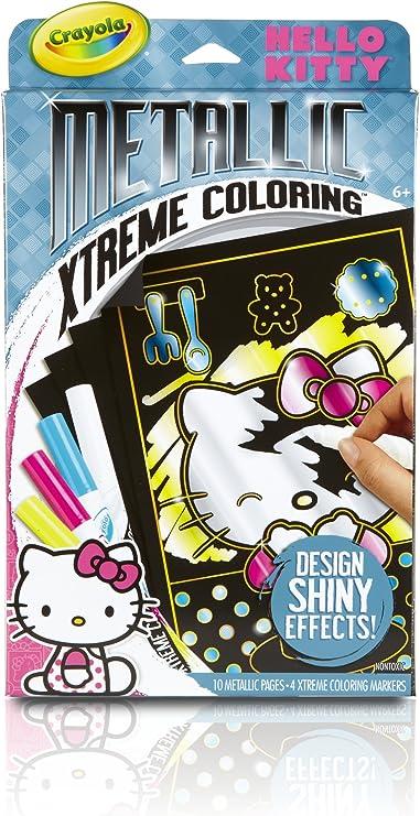 Amazon.com: Crayola Metallic Extreme Hello Kitty Coloring ...