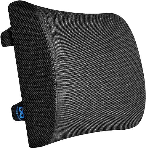 Everlasting Comfort Pure Memory Foam Lumbar Pillow for Car or Office Chair