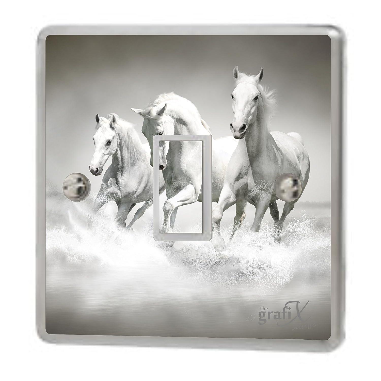the grafix studio Horses Pattern Single Light Switch & Double Switch Sticker Vinyl/Skin cover sw140