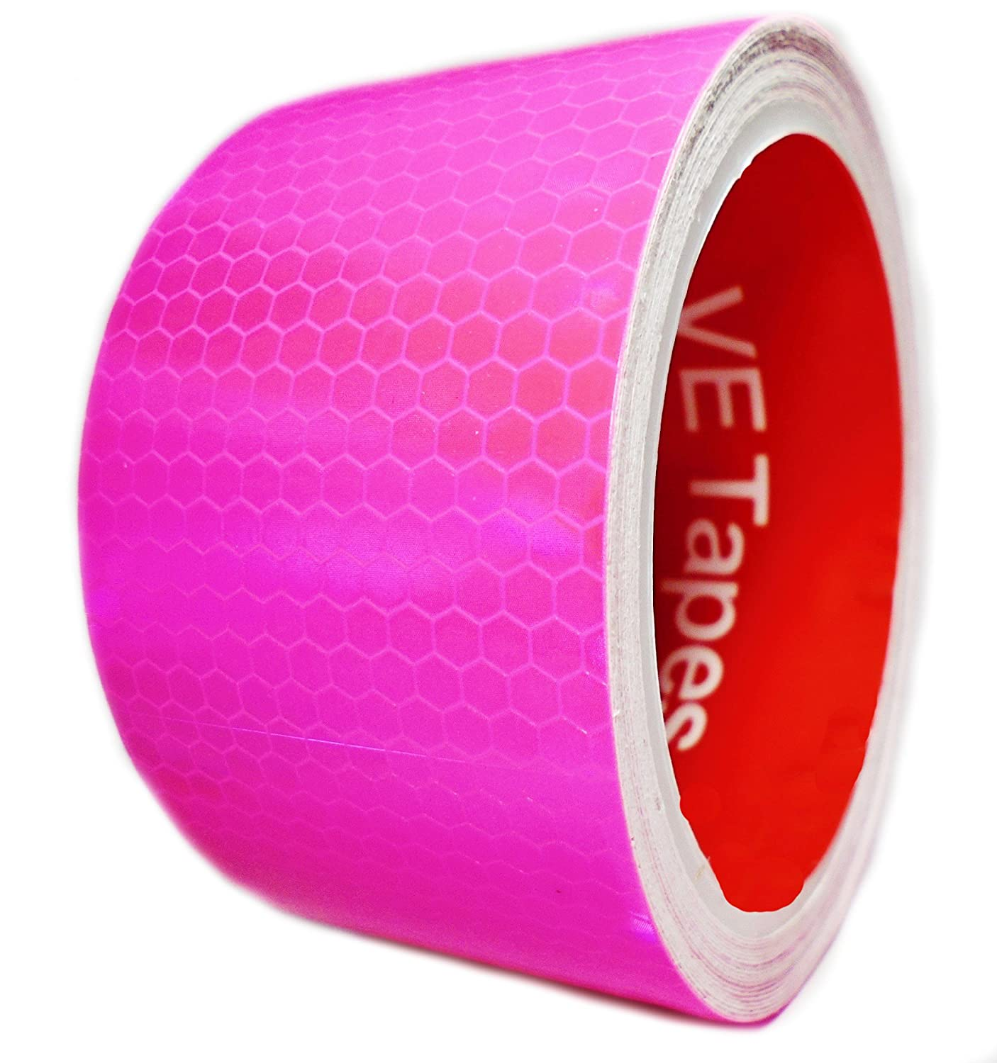 VE Tapes 5M x 50mm High Intensity Reflective Tape Vinyl Roll Self-Adhesive (Yellow)