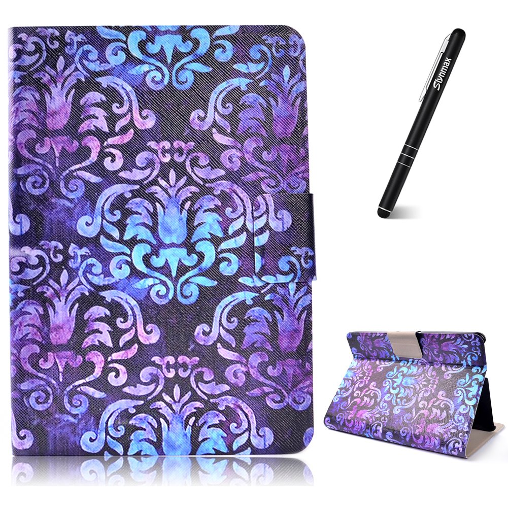 Kindle Fire HDX7 Tablet Case,  Kindle HDX 7 Inch 2013 Leather Case Wallet, Slynmax Mandala Design Flip Folio Notebook Cover Bookstyle Premium PU Leather Wallet Case with Built-in Stand
