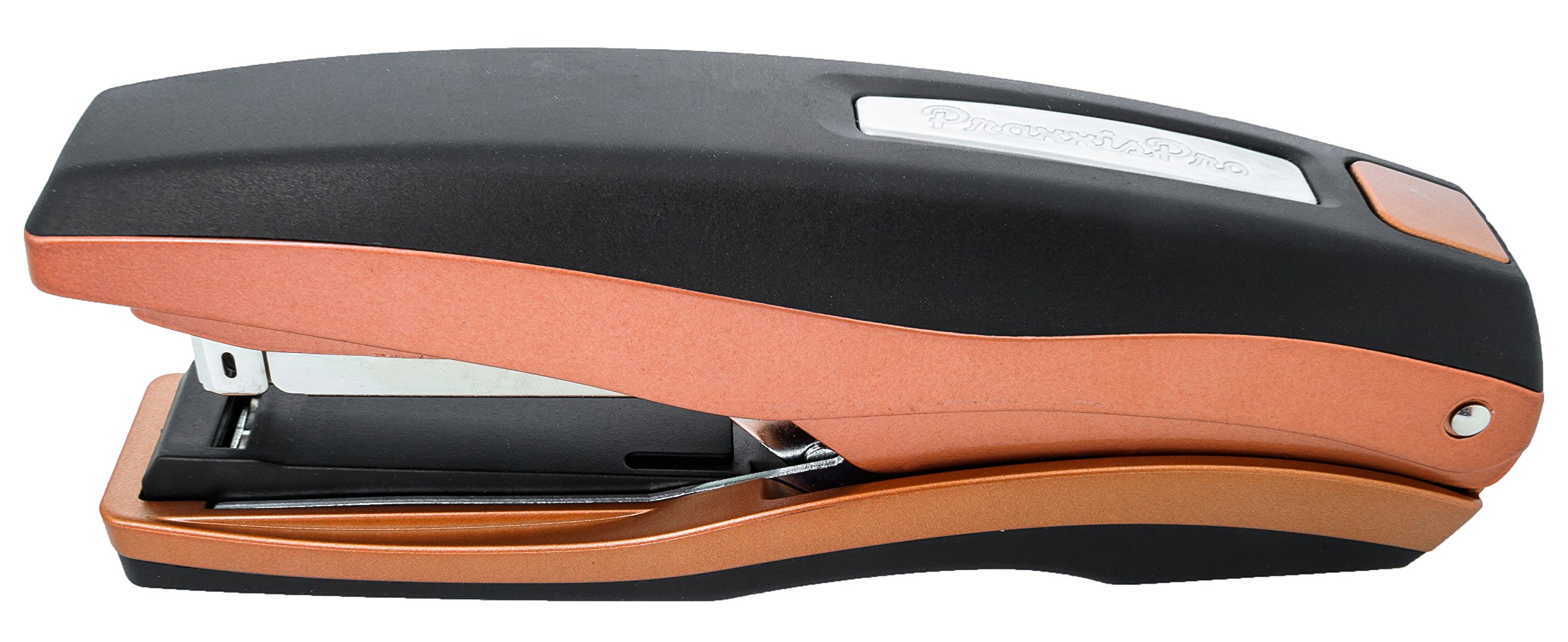 PraxxisPro, Heavy Duty Flat-Clinch Stapler - Staples 2 to 40 Sheets, Reliable Stapling Every Time, Zinc Construction (Copper-Metallic)