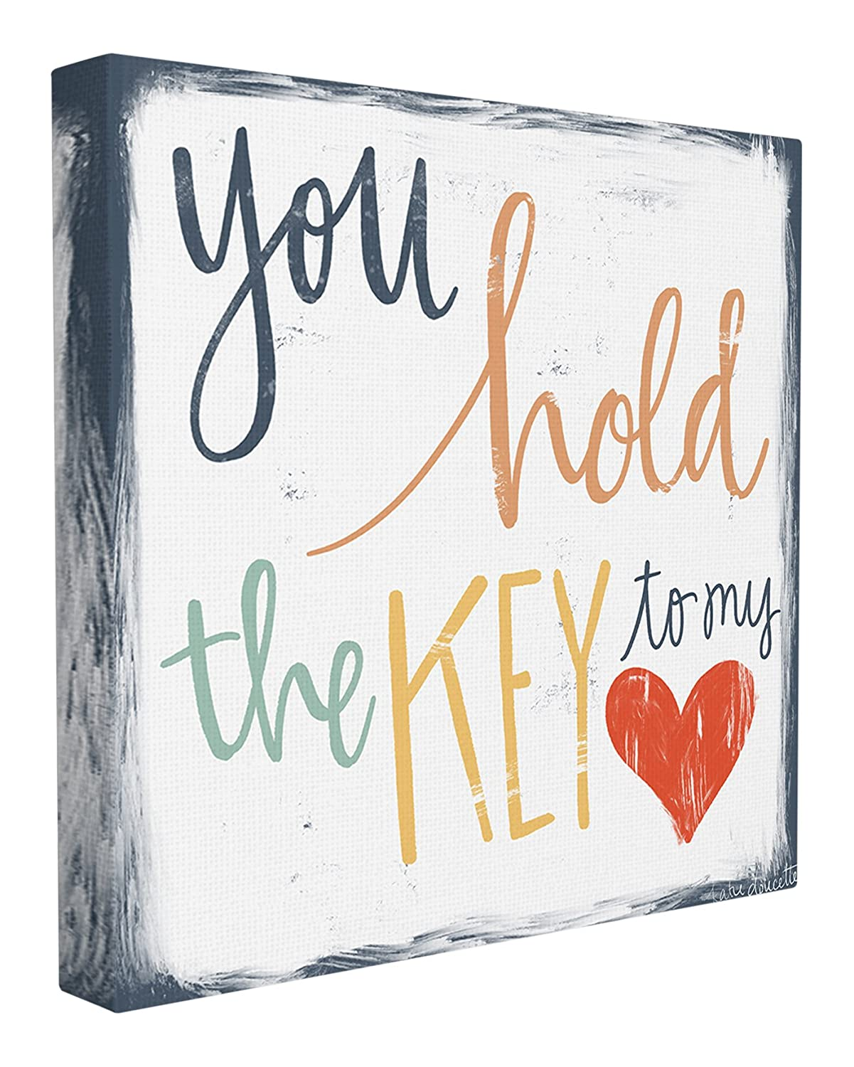 The Stupell Home Decor Collection You You Hold The Key to My Heart Wall Plaque Art 12 x 12 Multicolor