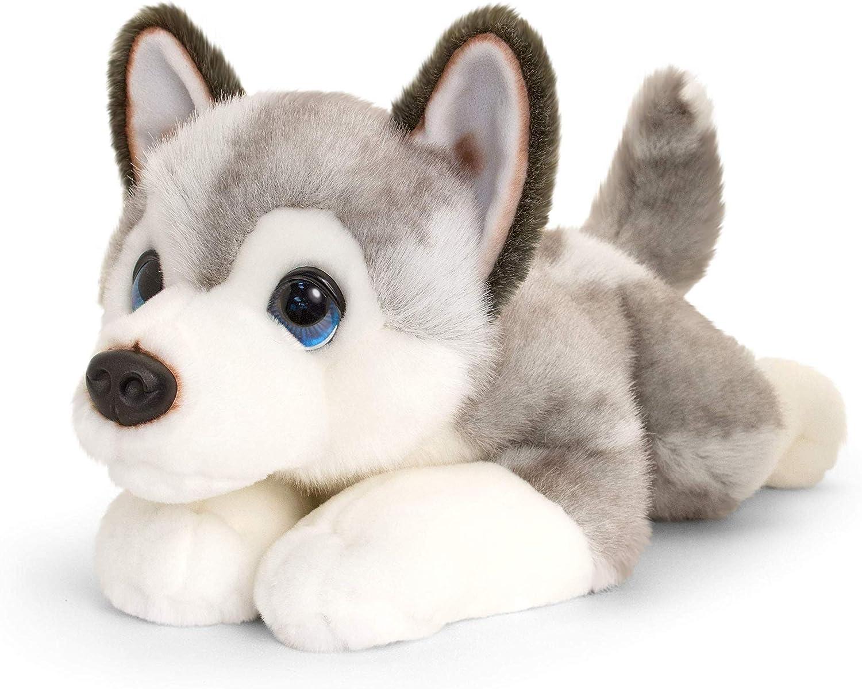 Keel Toys Signature - Husky perrito de peluche