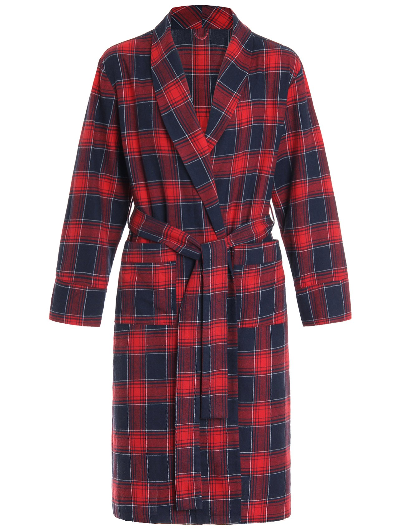 061e21c4af9a Details about Latuza Women s Plus Size Cotton Flannel Robe With Two Patch  Pockets