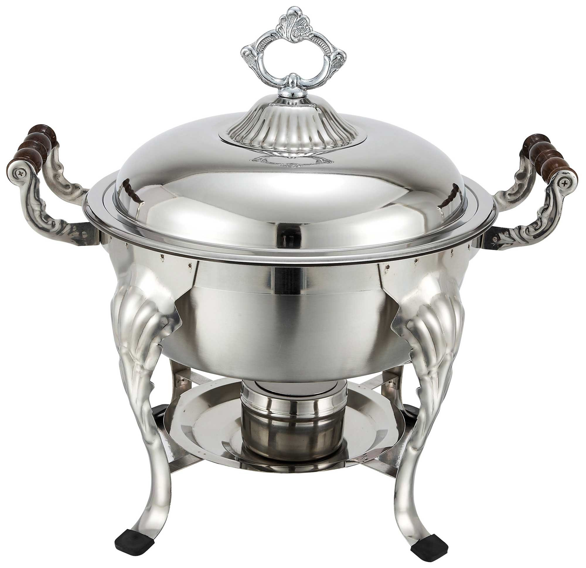 Winco 708 Round Crown Chafer, 6-Quart