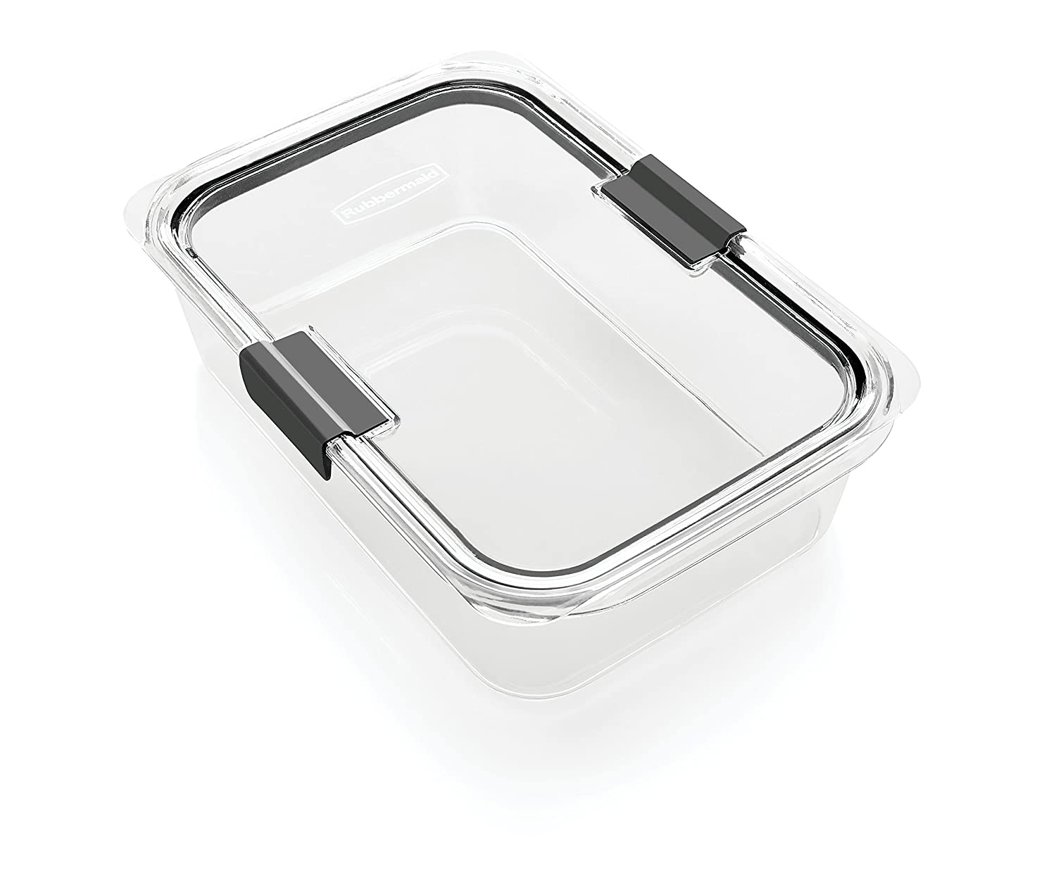 Rubbermaid Brilliance Food Storage Container, Large, 9.6 Cup, 100 Percents Leak Proof, Plastic, Clear by Rubbermaid