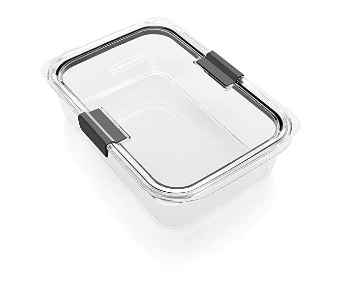 Buy Rubbermaid Brilliance Food Storage Container, BPA-Free Plastic, Large, 9.6 Cup, Clear Online ...