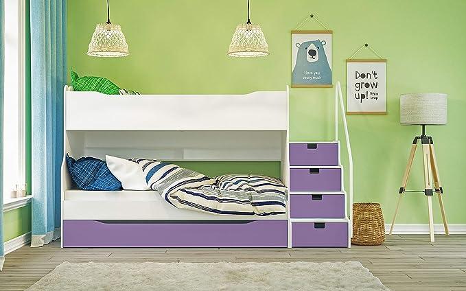 Litera MAX 4 con cajón Escaleras en Color Blanco/púrpura: Amazon.es: Juguetes y juegos