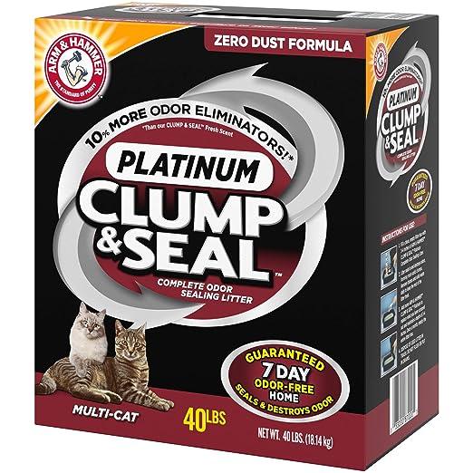 Amazoncom Arm Hammer Multi Cat Clump Seal Clumping Litter 14