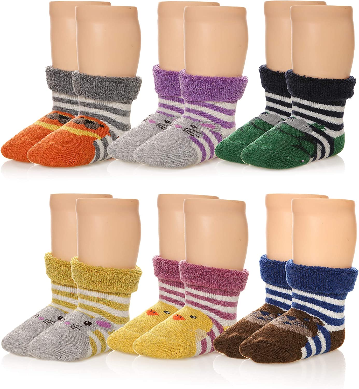 6 Pairs Baby Merino Wool Blend Boot Thermal Warm Cotton Crew Socks Winter Socks