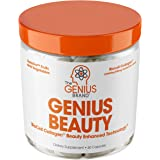 Genius Beauty - Hair Skin and Nails Vitamins + Detox Cleanse + Anti Aging Antioxidant Supplement, Collagen Pills w/ Glutathio