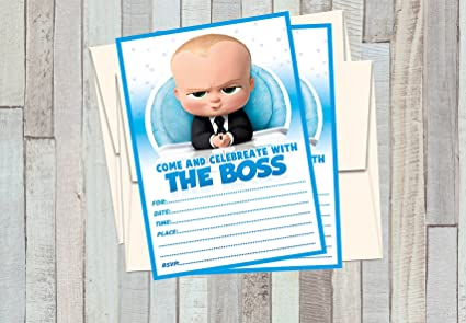 12 The Boss Baby Birthday Invitations 12 5x7in Cards 12