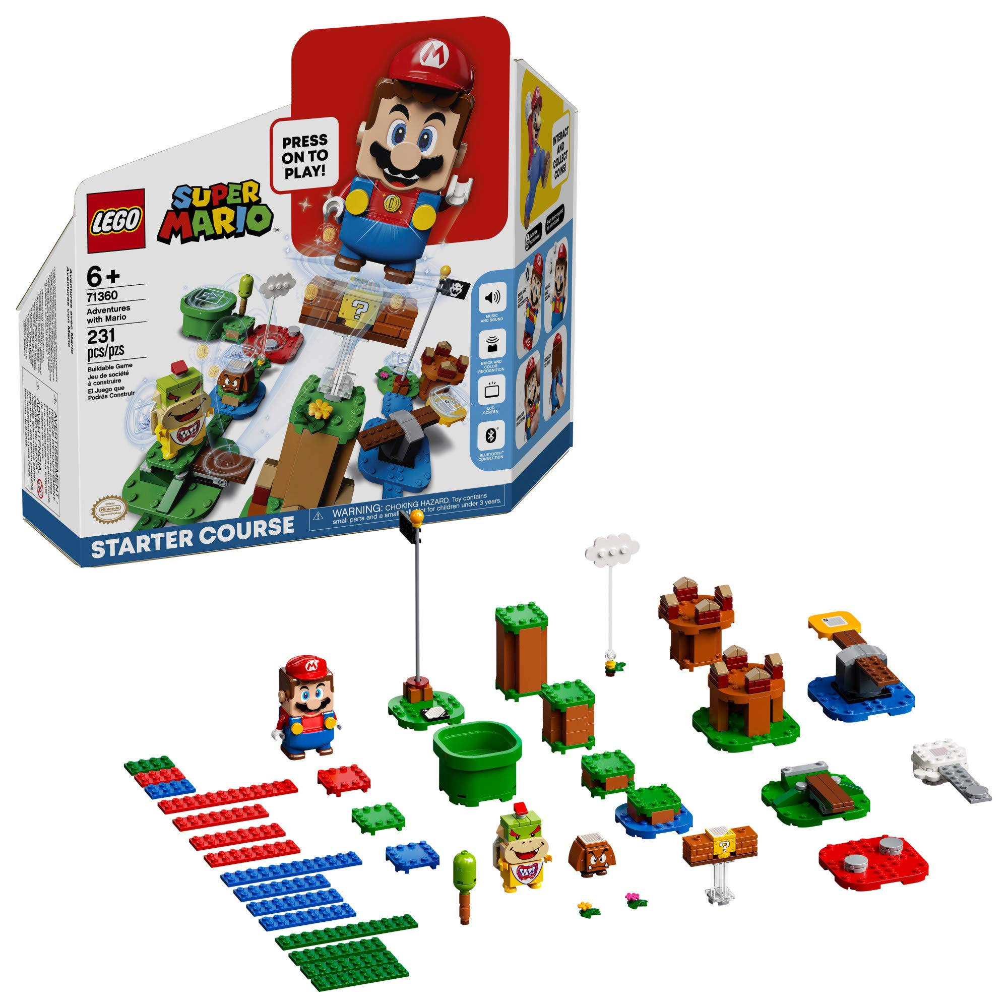 LEGO Super Mario Adventures with Mario Starter Course 71360 Building Kit Interactive Set Featuring Mario Bowser Jr. and Goomba Figures New 2020 (231 Pieces)