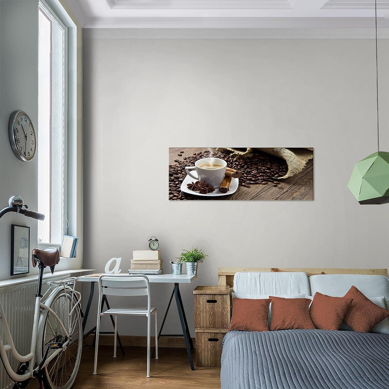 Bilder Küche Kaffee Wandbild 100 x 40 cm Vlies - Leinwand Bild XXL ...