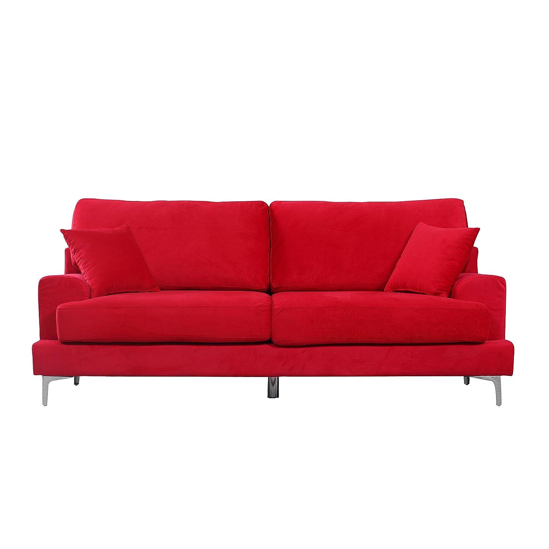 Red velvet sofa cover for Sofas chesterfield baratos