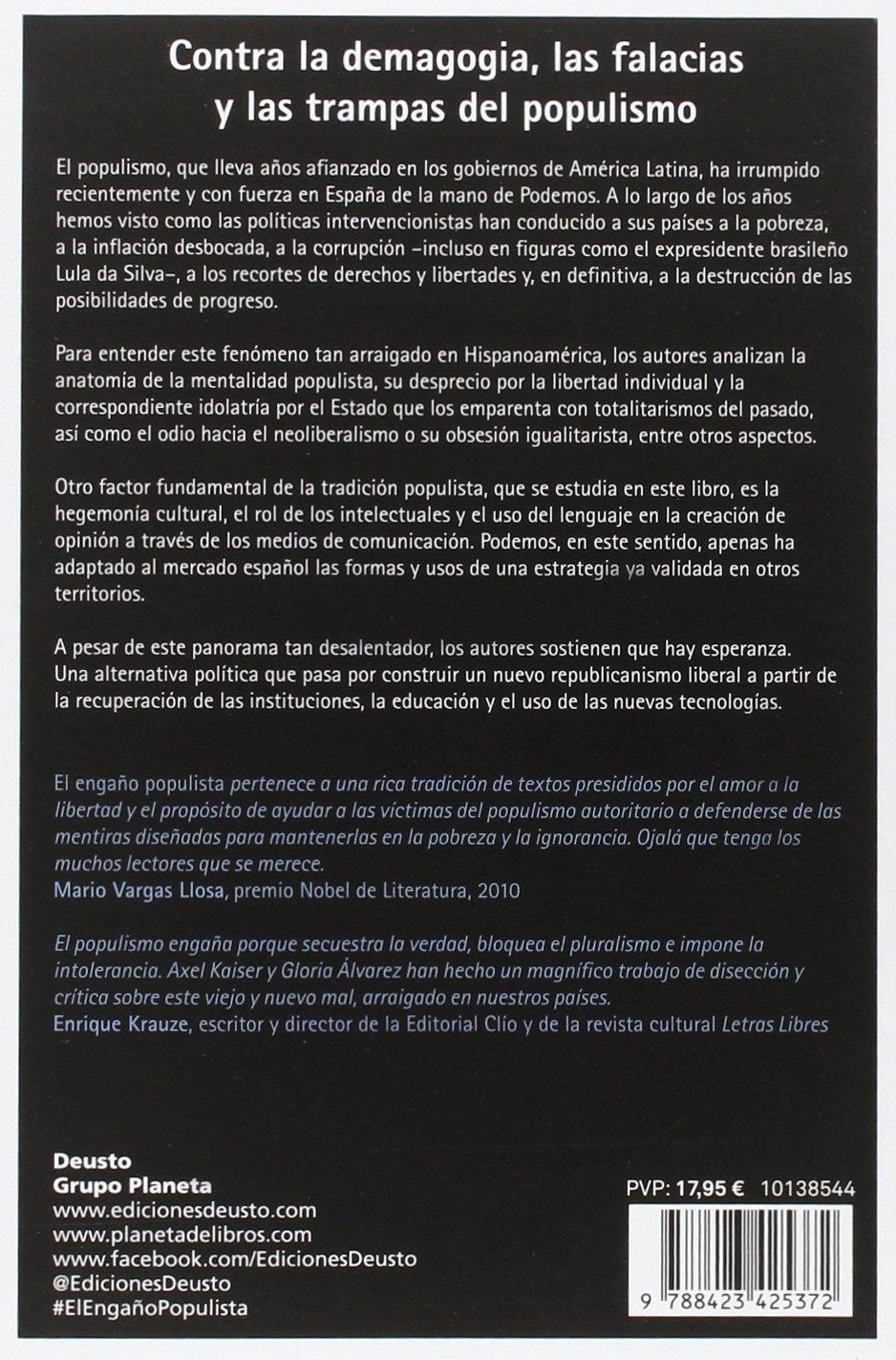 El engaño populista: Axel ; Álvarez Cross, Gloria Kaiser Barents-von  Hohenhagen: 9788423425372: Books - Amazon.ca