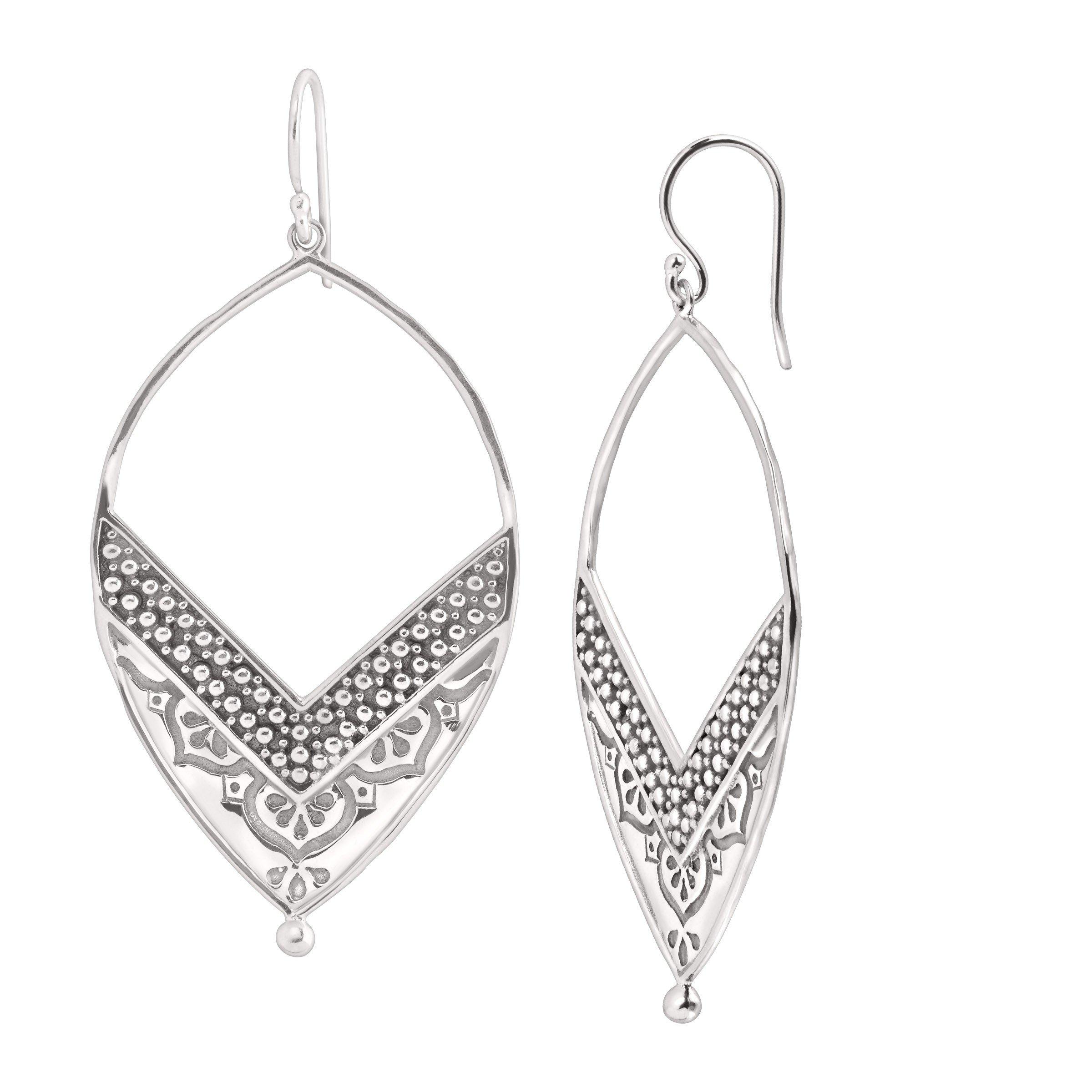Silpada 'Ornate' Open Drop Earrings in Sterling Silver