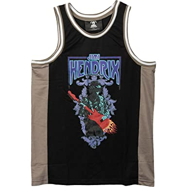 6699aa032da Jimi Hendrix Men's Basketball Jersey Black - Black -: Amazon.co.uk ...