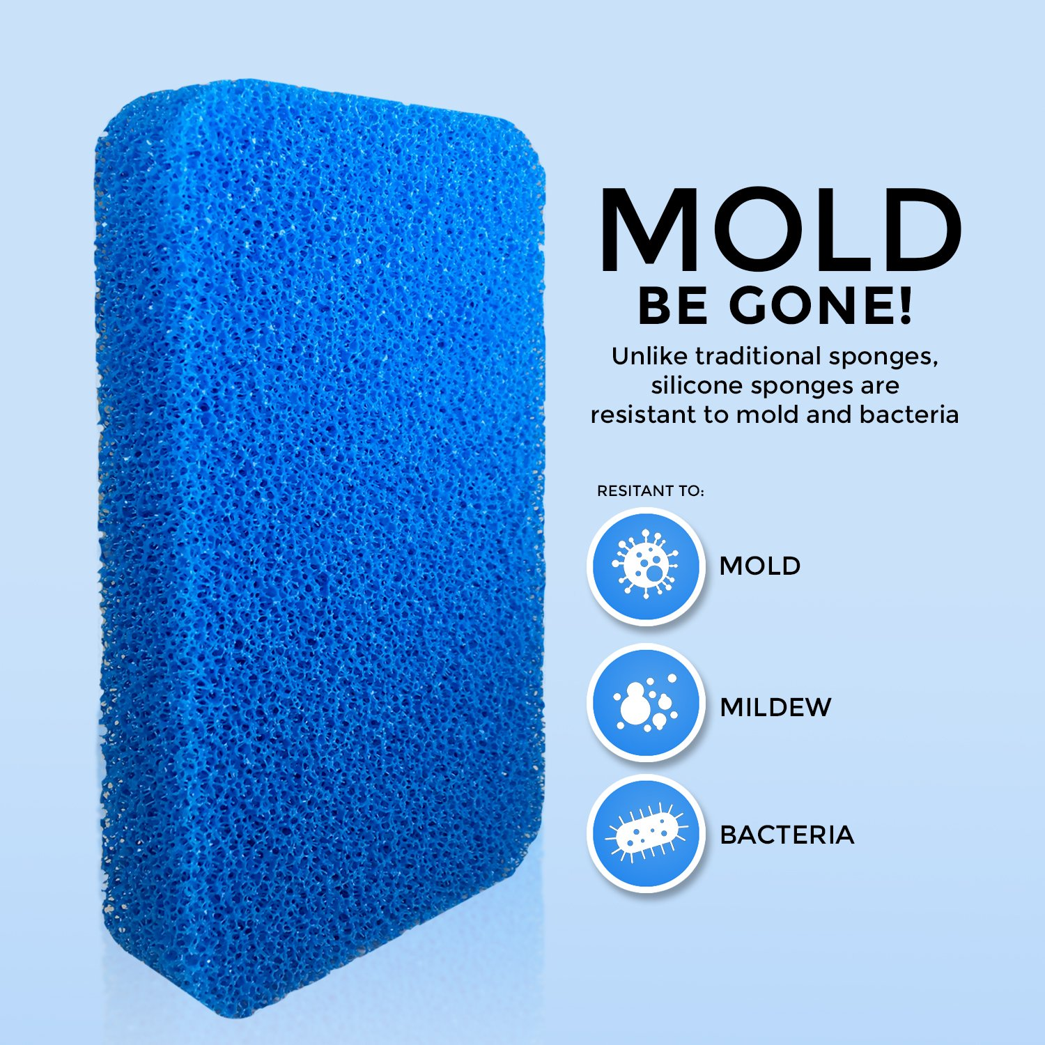 - Modern Antimicrobial Kitchen Sponges Silicone Sponge 100/% Mold Mildew and Bacteria Resistant Zero Smell Technology STK Heavy Duty Silicone Scrubber Sponges 10x More Durable 10 Pack