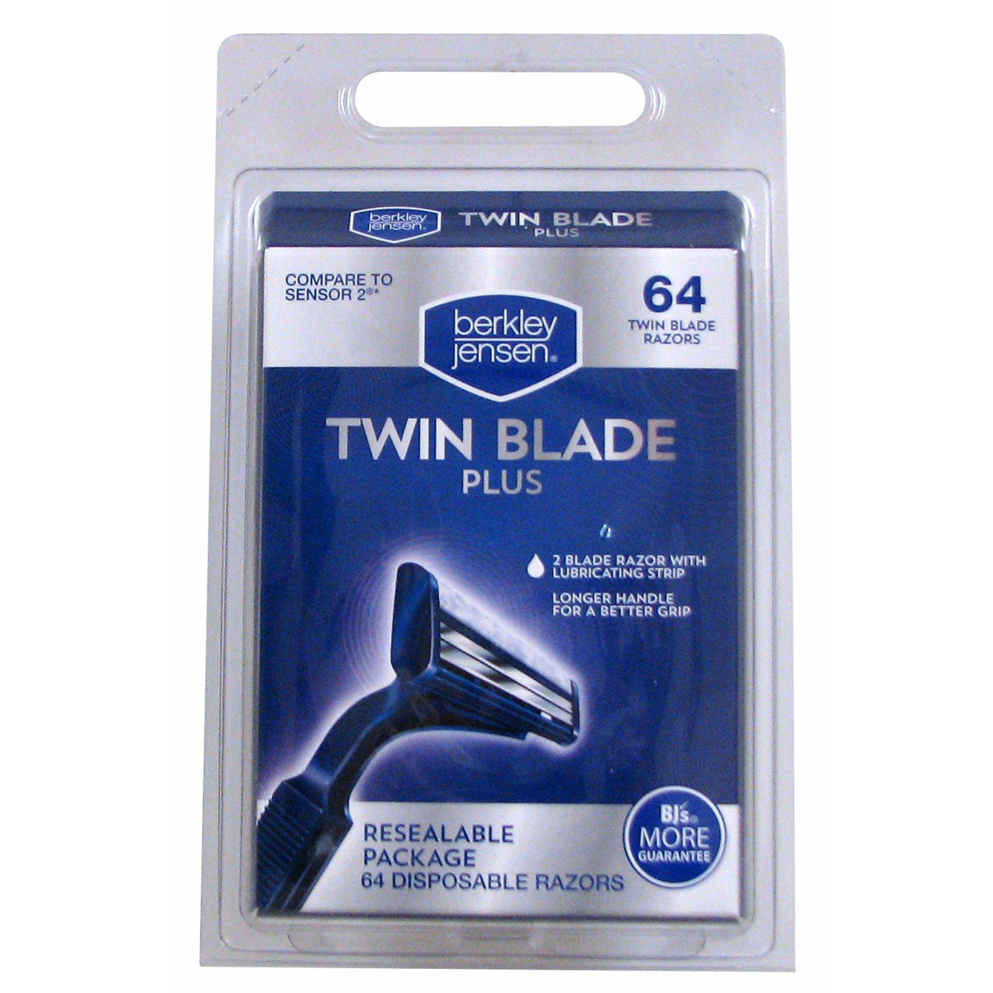 Berkley Jensen Twin Blade Plus Disposable Razor, 64 ct. (pack of 6)