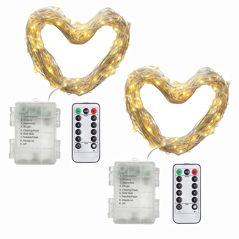Amazon.de: 2 Stück 10M 100 Lichter, Micro Lichterkette ...
