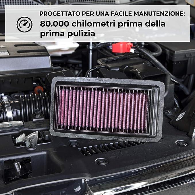 K/&N Filtro dellaria di ricambio Auto compatibilit/à non garantita con veicoli con guida a sinistra