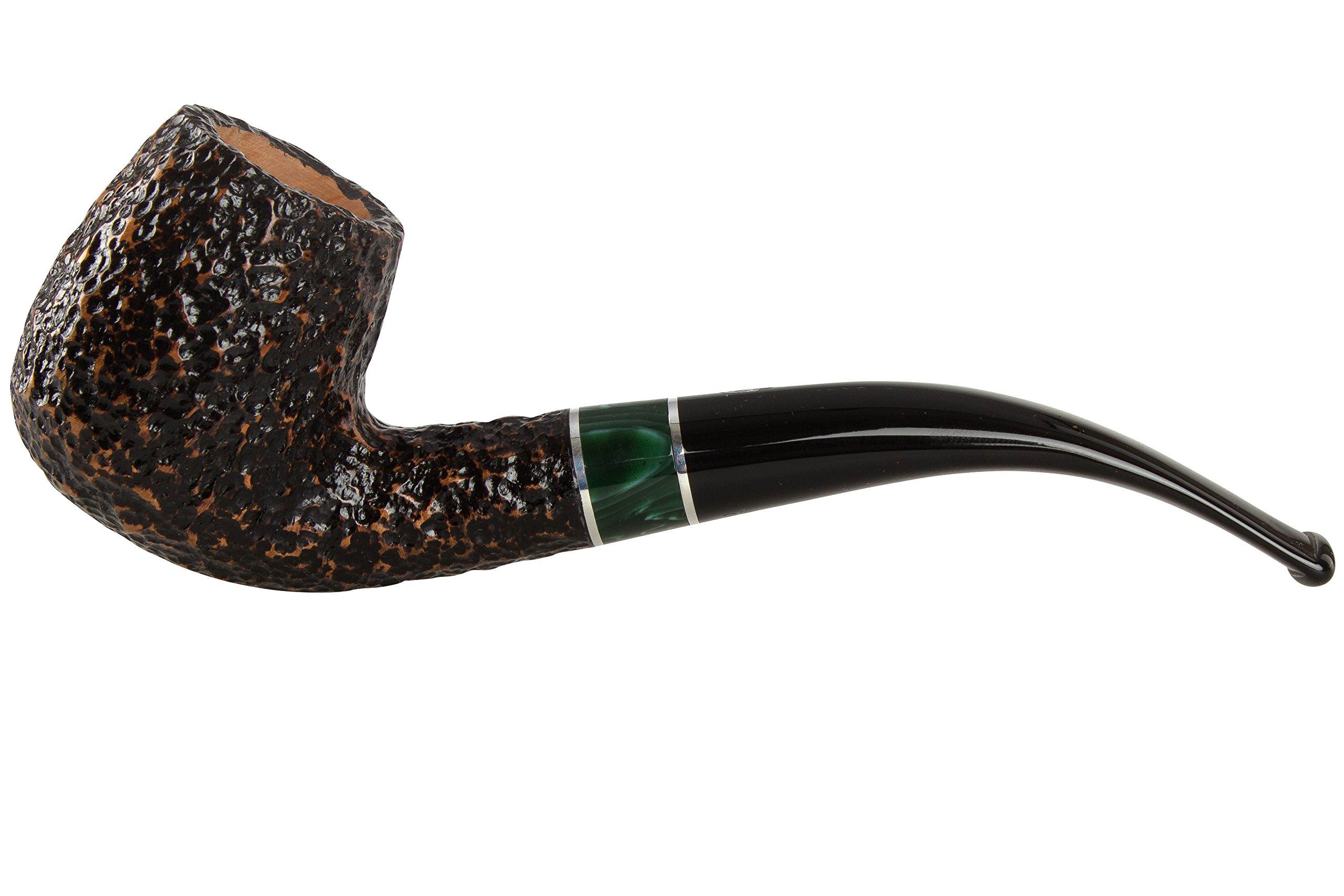 Savinelli Impero 602 Rustic Tobacco Pipe - Bent Billiard