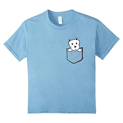 Adorable Little Westie In The Pocket T-shirt