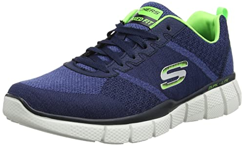 9e90c58c60b2f Skechers Men's Equalizer 2.0- True Balance Navy and Lime Nordic Walking  Shoes - 6 UK