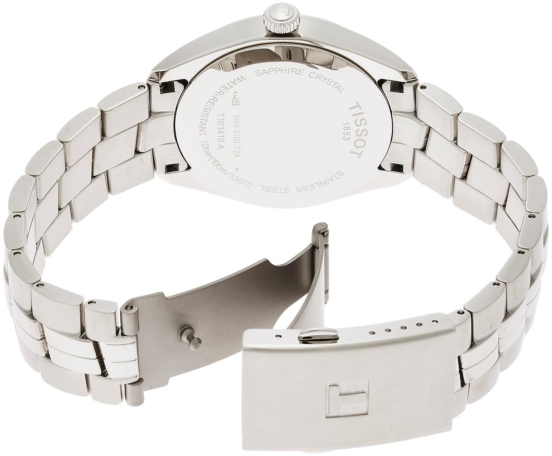 43641e9d0 Amazon.com: Tissot PR100 Silver Dial Stainless Steel Quartz Men's Watch  T1014101103100: Watches