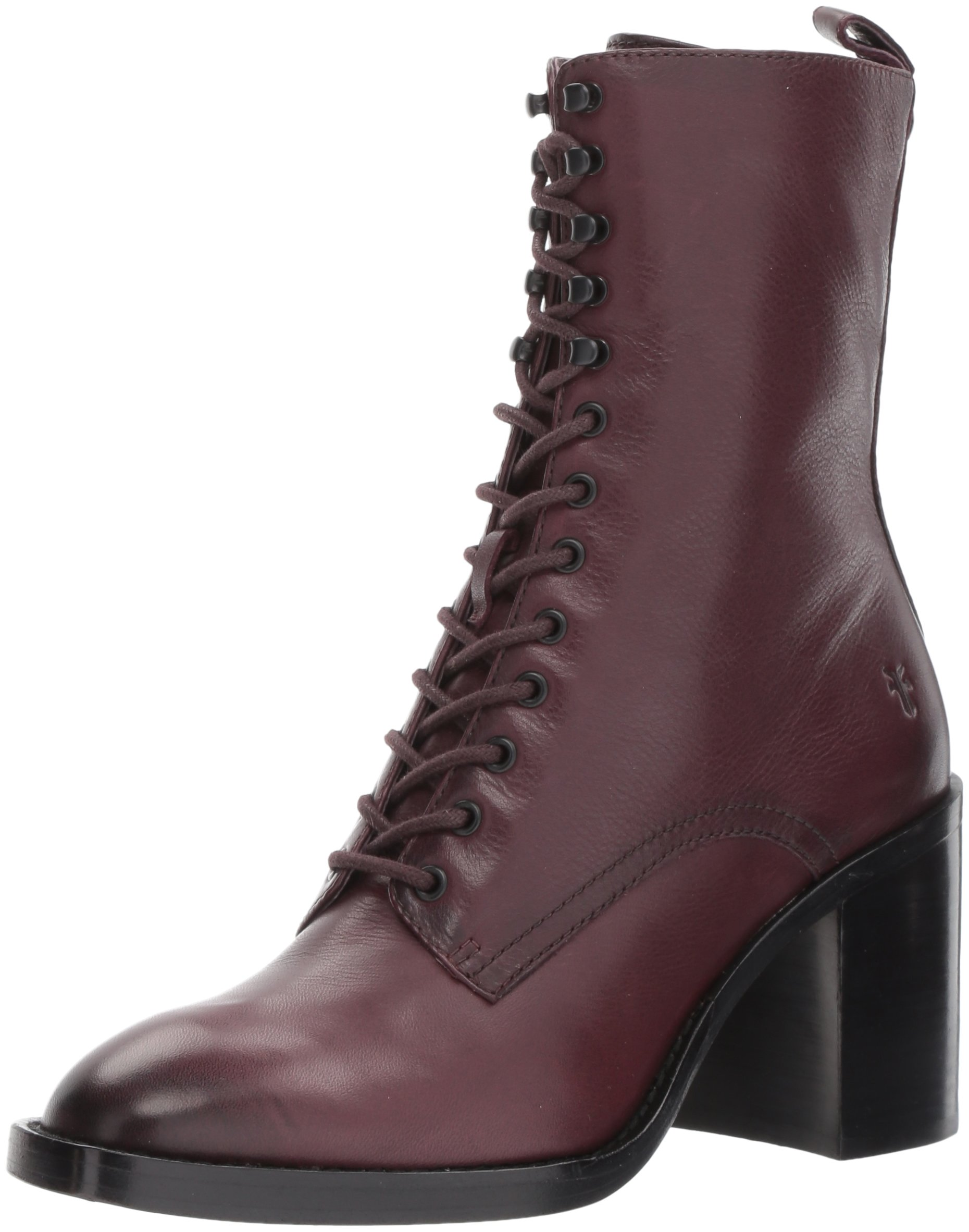 FRYE Women's Pia Combat Boot, Wine, 7 M US