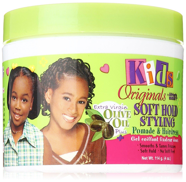Africa's Best Kids Organics - Soft Hold Styling Pomade coiffant doux pour enfant - A base d'huile d'olive - Pot de 120 ml Atlas Ethnic 566043