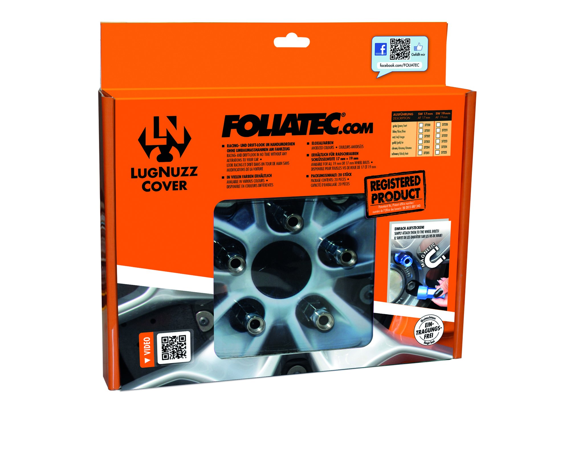 Foliatec F37200 LugNuzz Cover Set, Green Anodized, Size 17 mm, Set of 20 by Foliatec (Image #6)