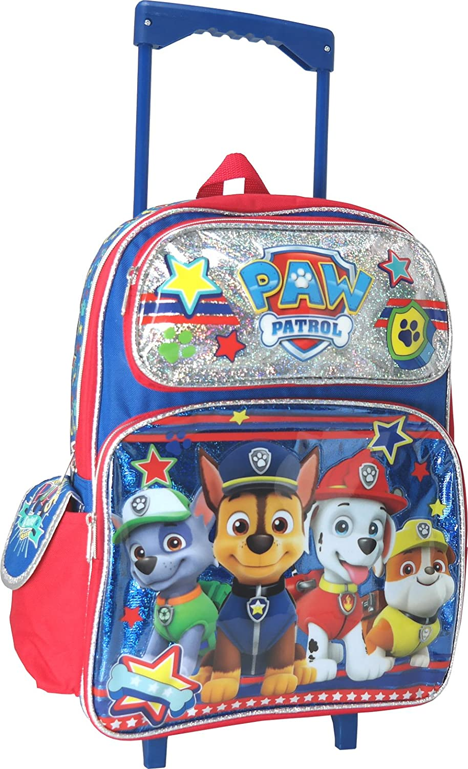 Paw Patrol Chase Marshall Rubble Rocky 16 inches Large Rolling Backpack