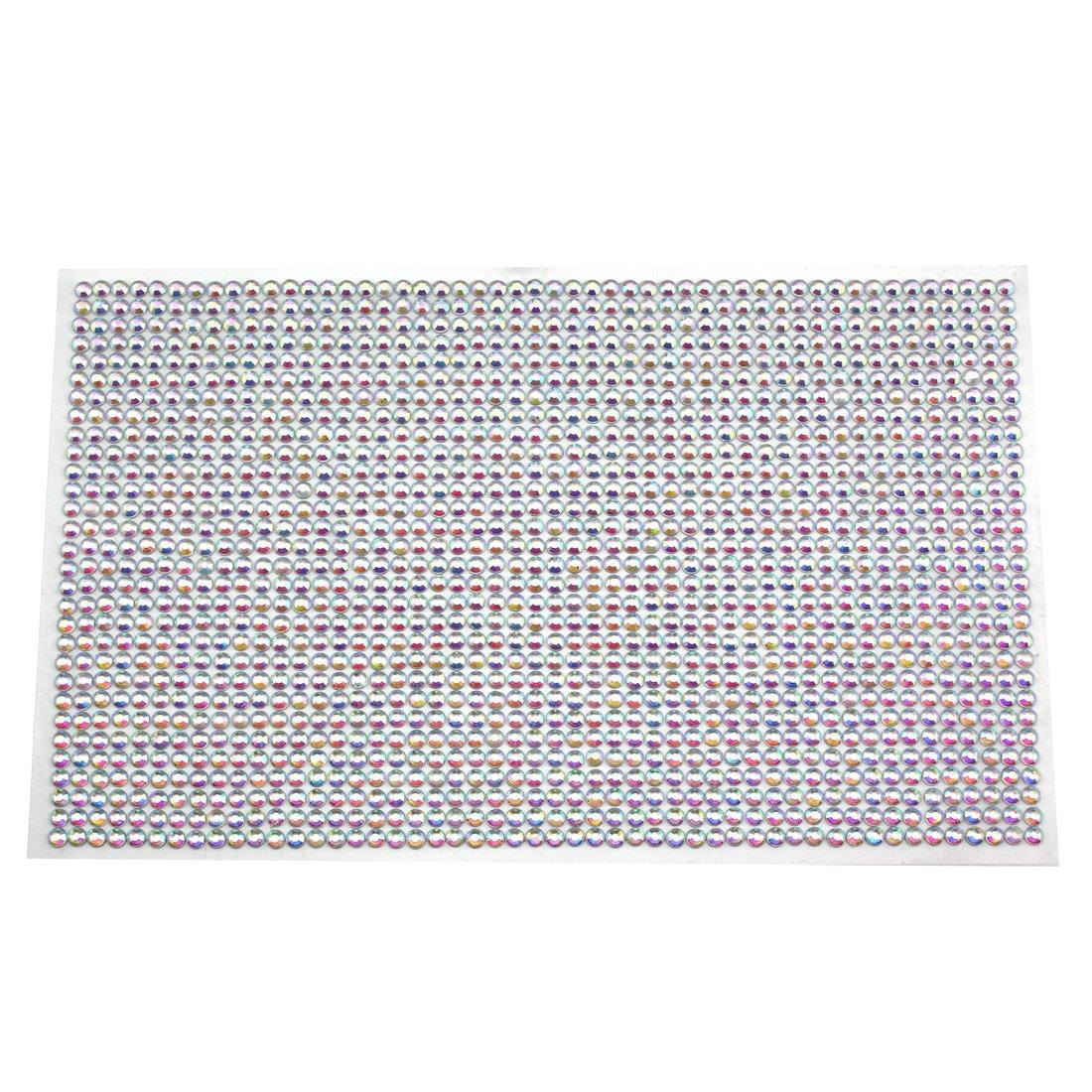 1dde41d664 CraftbuddyUS 1500 Bulk Sheet of 5mm Self Adhesive AB Diamante Stick on  Rhinestone Gems Craft